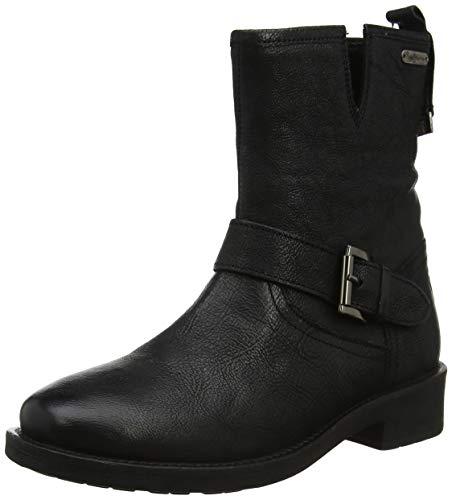 Pepe Jeans London Damen Maddox ESS Biker Boots, Schwarz (Black 999), 40 EU