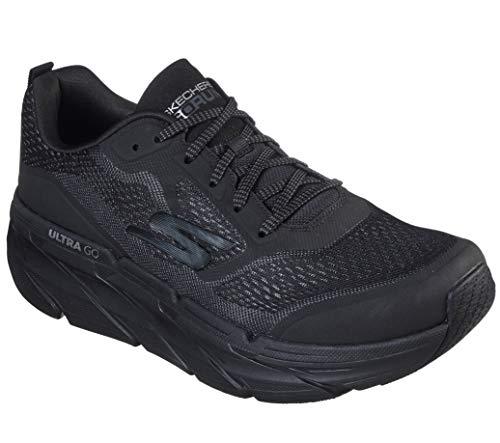 Skechers Men's Max Cushioning Premier Vantage-Performance Walking & Running Shoe Sneaker, Black/Charcoal, 13 M US