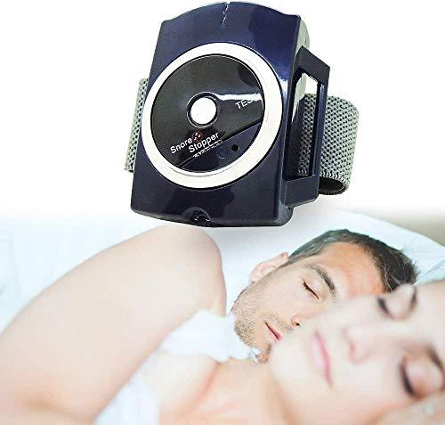 Dispositivo anti-ronquido inteligente, retenedor de ayuda para el sueño de la banda de muñeca anti-SNORE, solución a sus problemas de ronquidos, tenga un sueño natural y cómodo, 2 unids
