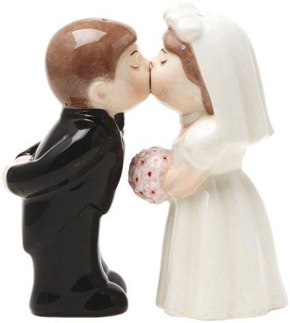 Salz- und Pfefferstreuer Brautpaar mit Magnet
