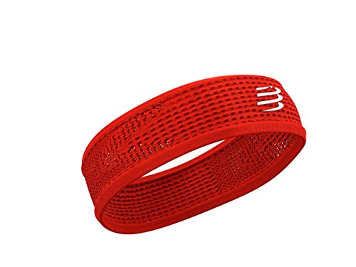 COMPRESSPORT Thin Headband On/Off Cinta, Unisex-Adult, Rojo, Talla Unica
