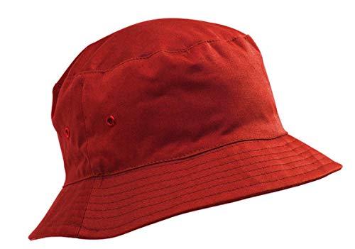 Adventure Togs Fischerhut/Sonnenhut für Kinder-8-11 Jahre, für Jungen & Mädchen, 100% Baumwolle, rot