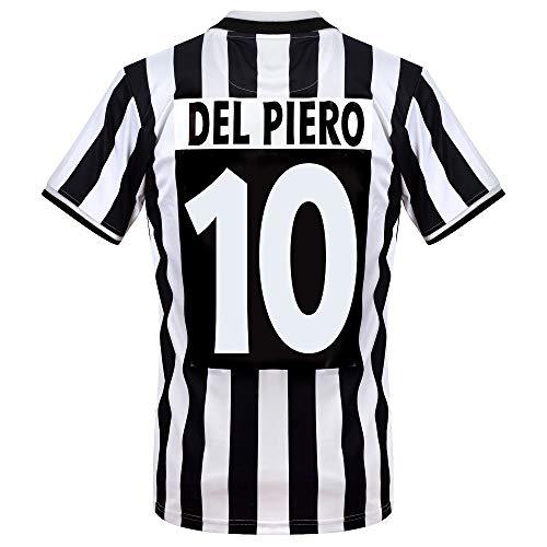 Copa Juventus Home Del Piero 10 Retro Trikot 1994-1995 (Retro Flex Beflockung) - L
