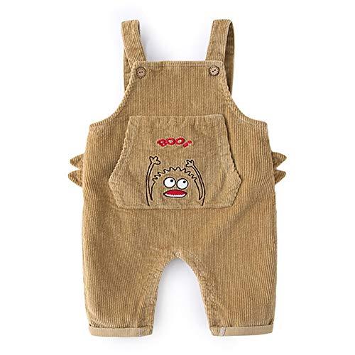 Mud Kingdom Combinaison Unisexe pour bébé Motif Cartoon brodé - Marron - 12 Mois