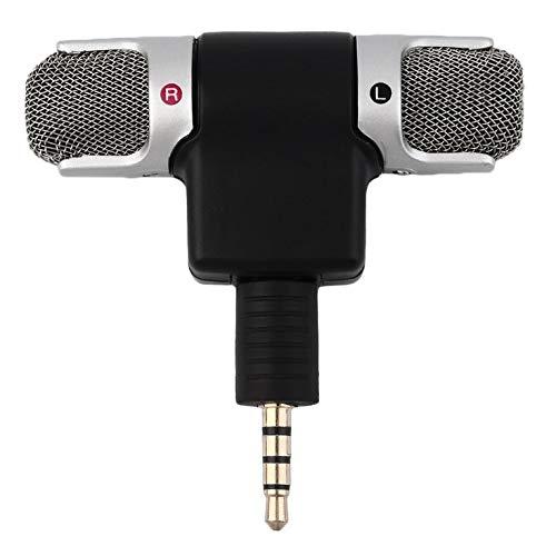 Hochleistungs 3,5-mm-Buchse Tragbares Mini-Mikrofon Digitales Stereomikrofon für Recorder-Handy Sing Song Karaoke