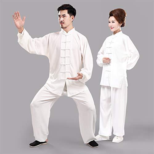 BAJIE Tai Chi Uniforme Ropa Unisexo Chino Imitación Seda Traje Tradicional Imitación Pantalones (Color : Q, Size : XXS)