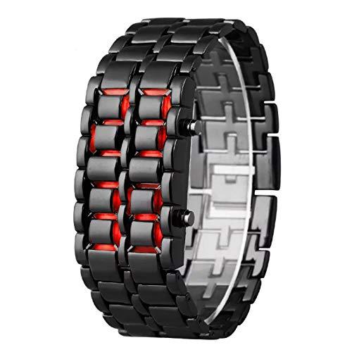 Smart Watch Fashion Men Watch Reloj de Pulsera Digital Completo Reloj LED Rojo