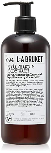 L:a Bruket No.94 Flüssigseife, Sage / Rosemary / Lavender, 1er Pack (1 x 450 ml)