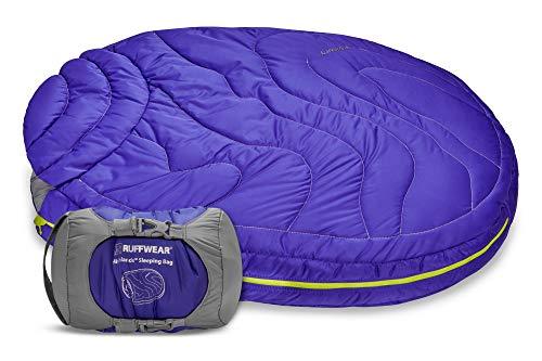RUFFWEAR, Highlands Dog Sleeping Bag, Water-Resistant Portable Dog Bed for Outdoor Use, Huckleberry Blue, Medium