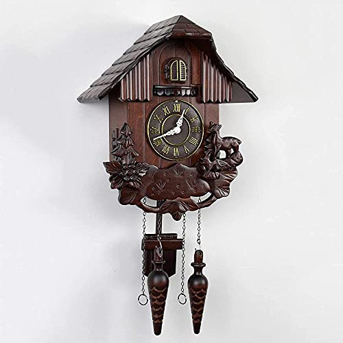 Reloj de cuco para niños de madera maciza Cuco Habitaciones Rural Reloj de pared