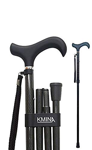 KMINA PRO - Folding Cane, Carbon Fiber Cane, Cane for Men, Cane for Women, Folding Canes for Men, Folding Canes for Women, Walking Canes for Seniors, Lightweight Adjustable Cane, KMINA PRO