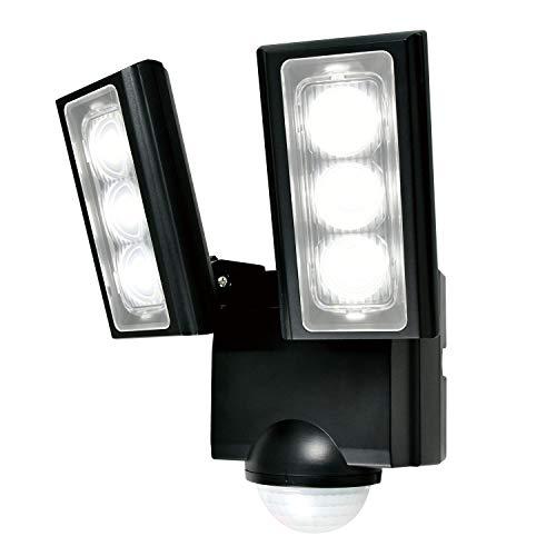 エルパ 乾電池式 センサーライト 2灯 省エネ 安心の防水仕様 広範囲照射可能 フラッシュ・赤点滅機能搭載 ESL-312DC