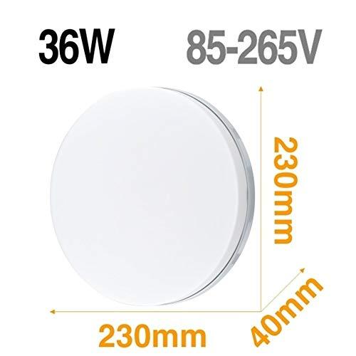 Lámpara de techo LED Panel de luz LED 48W 36W 24W 18W 13W 9W 6W abajo luz Montado en Superficie moderna lámpara de iluminación for el hogar Decoración (Body Color : Model B 36W)