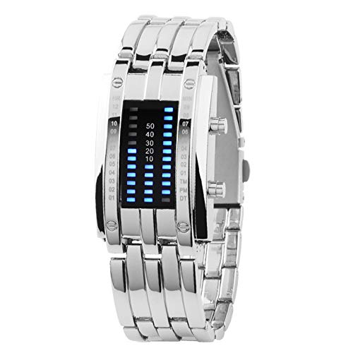 Shuliang Binary LED Digital Wrist Band Matching Watch for Couple Fashion Creative