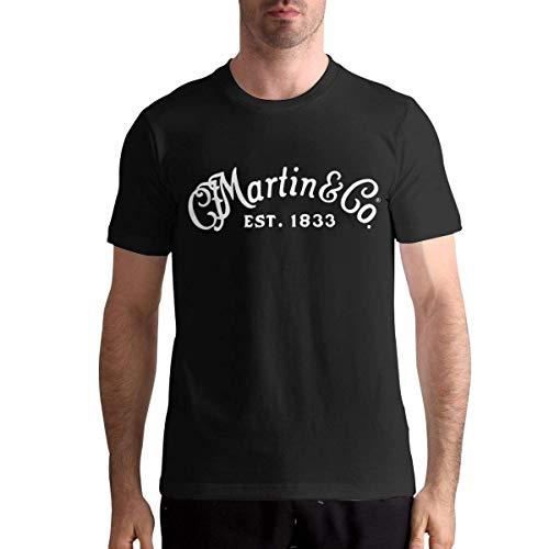 Camisetas C.F. Martin & Co Camiseta de Manga Corta para Hombre Camiseta de algodón con Cuello Redondo de Moda Informal