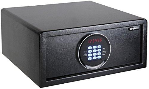 Chilitec Tresor Safe mit elektronischem Zahlenschloss I Display I Motor. Öffnung I Sicherung von Wertsachen im Büro Hotel Haus I 20x43x37cm