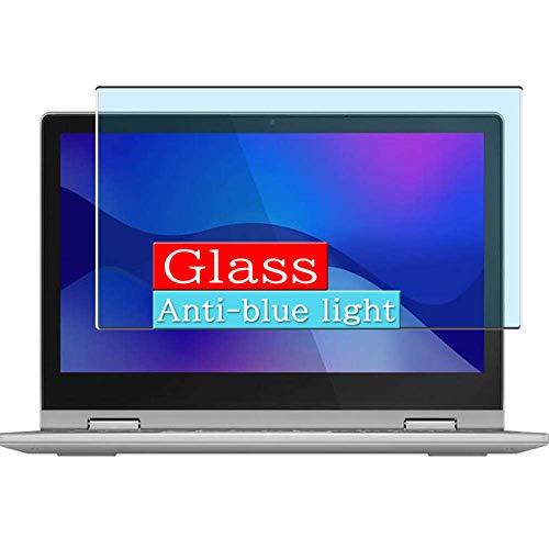 VacFun Filtro Luz Azul Vidrio Templado Protector de Pantalla, compatible con Lenovo IdeaPad Flex 3 11IGL05 11.6' Visible Area Cristal Screen Protector(cobertura no completa)