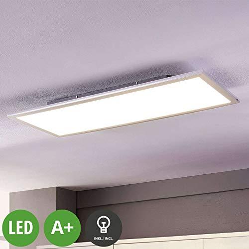 Lindby LED Panel 'Livel' (Modern) in Weiß u.a. für Küche (1 flammig, A+, inkl. Leuchtmittel) - Bürolampe, Deckenlampe, Deckenleuchte, Lampe, Küchenleuchte