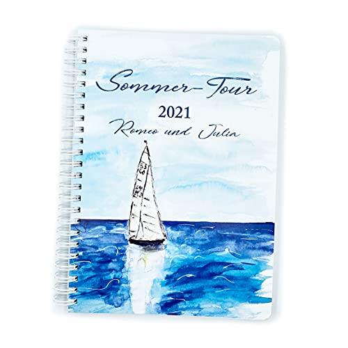 Planificador de viaje DIN A5   Personalizado   Cuaderno   Carpeta de anillas con 120 páginas con puntos   Bullet Journal