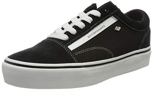 British Knights Damen Mack Platform Sneaker, Schwarz Weiss, 37 EU