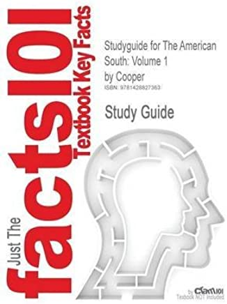 [Studyguide for the American South: Volume 1 by Cooper, ISBN 9780072460599] (By: Jr & Terrill Cooper) [published: September, 2007]