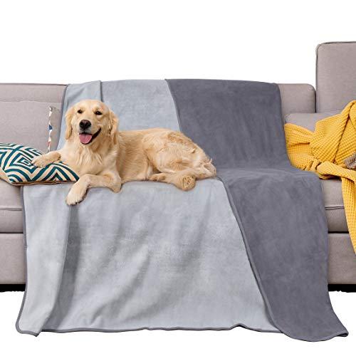 Pawsse Wasserdichte Hundedecke, für Welpen, Katzen Fleece-Überwurf, Schutzdecke für Sofa, Bett Autositz, Möbel, Groß 203 x 152 cm