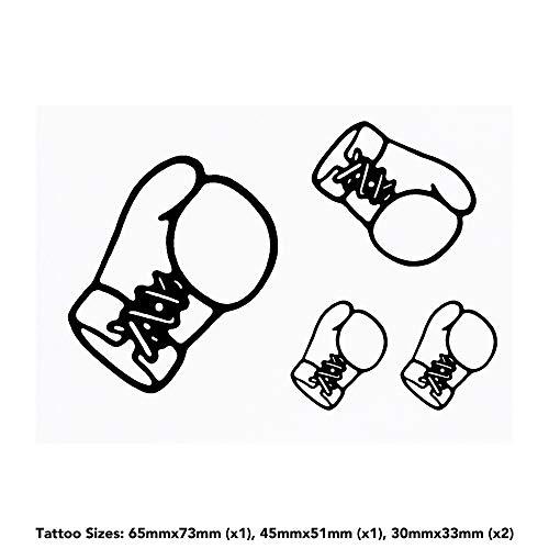 Azeeda 4 x 'Boxhandschuh' Temporäre Tätowierungen (TO00013895)
