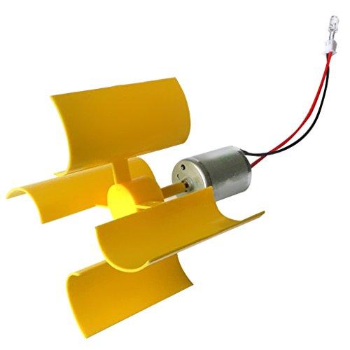 Baoblaze Mini Vent Vertical Générateur éolienne Ensemble DIY Jeu- Jouet Science pour Enfants