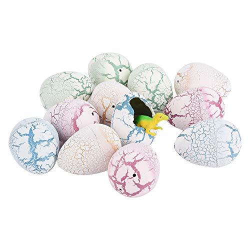 Huevos de Pascua, 12 piezas de huevo de dinosaurio, incubación de agua en crecimiento, juguetes de huevos de Pascua para niños, decoración de Pascua (Edición : A)