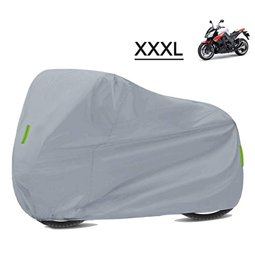 Impermeable Universal Motorcycle Funds Protección Impermeable Polvo 210D Paño Oxford (Color : Silver XXXL)
