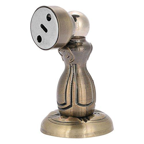 Magnetische deurstopper van roestvrij staal, krachtig magneetdeurstopper, magnetische deurstopper met schroeven voor vloer en muur ter bescherming van de deuren van meubelmuren, ø5,2cm h: 10,2 cm