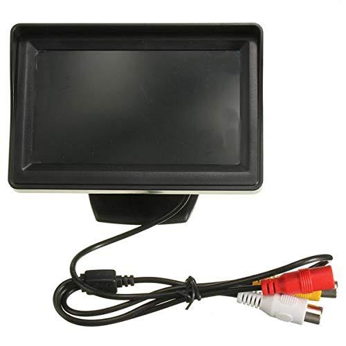 IJEOKDHDUW 4.3inch del Coche del Monitor de visión Trasera cámara de Marcha atrás Kit de CCD for la conexión de tránsito