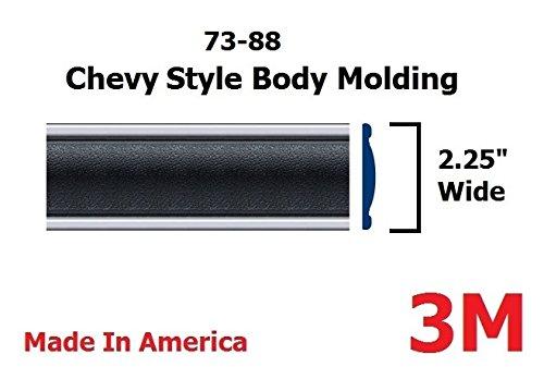 Autmotive Authority 1973-1987 Chevy GMC Black Side Body Trim Molding C10, C20, C30, K10, K20, K30, V10, Suburban, Custom Deluxe, Silverado, Pickup Trucks - 2.25' Wide (Half Roll - 160')