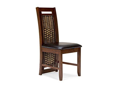 massivum Stuhl Bologna 50x100x53 cm Rubberwood braun gebeizt und lackiert