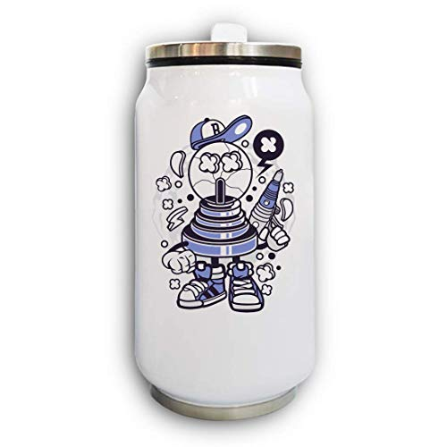 Fortune Ball Laser Pistol Urban Cartoon Art Thermal Beverage Can Thermos