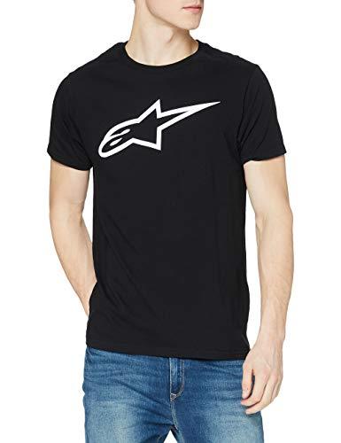 Alpinestars Heritage Blaze Tee - Herren T-Shirt, Sportlicher Kurzarmshirt, Körperbetonter Schnitt, Outdoor Sportswear , BLACK/WHITE , L