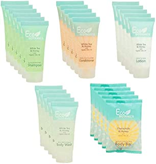 Eco Botanics | 1-Shoppe All-In-Kit | Hotel Size Amenities Set | Hotel/AirBnB/VRBO/Vacation Rental Soap Set | (150 pcs)