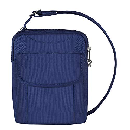 Travelon Anti-Theft Signature Slim Pouch (Blue - Exclusive Color)