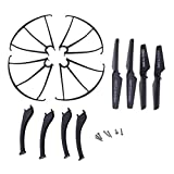 Fityle Propeller + Landing Gear +Prop Guard Kit for SYMA X5SC X5SW Drone Quadcopter