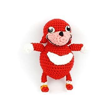 Ugandan Knuckles Handmade Crochet Amigurumi Stuffed Toy Meme gift