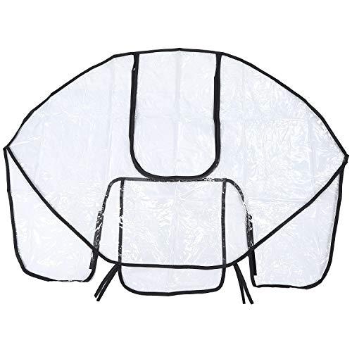 Timagebreze Cubierta de la lluvia del cochecito de PVC no toxico Insipido PVC Protector contra el polvo del viento para cochecitos Sillas de paseo cochecitos accesorios