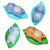 ZIXIXI Juguetes de baño, juguete de baño para bebés con juguetes de agua para natación, 4 piezas para niños de 18 meses en adelante para niños, niños, niñas