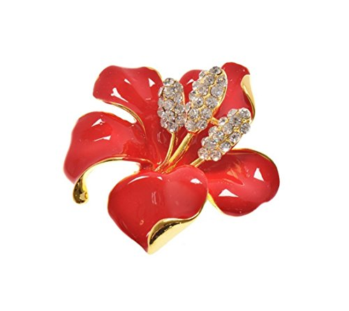 Kanggest Broche para Mujer Creativa Moda Rhinestone Flor Broche Pin Elegante Broches...