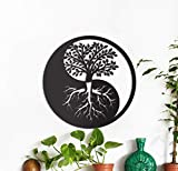 PROSCALE Árbol de Vida de Madera con símbolo Yin Yang, decoración de Pared para...
