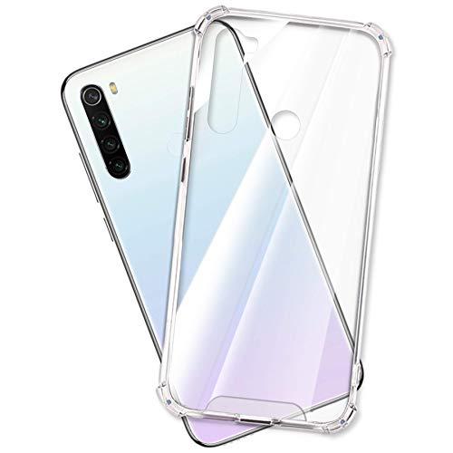 mtb more energy® Funda Crystal Armor para Xiaomi Redmi Note 8T (6.3'') - Tapa Dura & Bordes Suaves - Anti Shock Cover Case Estuche