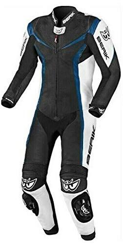 Berik Einteiliger Motorrad-Lederkombi für Biker (blau, UK 40 EU 50)