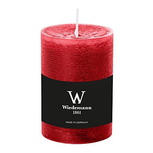 durchgefärbte Stumpenkerzen (H x Ø) 100 x 68 mm, Farbe Rubin, mit ASF-Folie zum Abbrandschutz, Wiedemann Marble Kerzen, Advent, Adventskranz, Weihnachten, Dekoration, Event
