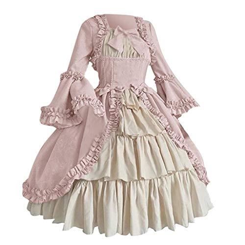 Xiangdanful Mittelalter Kleid Ballkleid Lolita Halloween Vintage Cosplay Kostüm Gothic Renaissance...