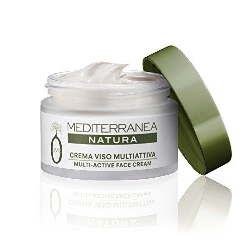 Mediterranea - Crème Visage Natura Olive Femme Multi Active - Traitement Anti-Âge Jour et Nuit - Peau plus Hydratée et Lumineuse - Crème Hydratante et Anti-rides - 50 ml