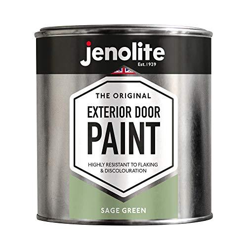 JENOLITE Garage & Exterior Door Paint - Sage Green - 1 Litre - Suitable for...